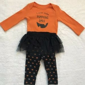 Just One You by Carter's NWT I Even Make Pumpkins Smile Outfit Size 6 Months